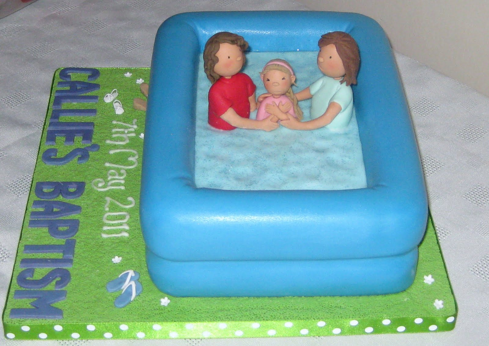 Adult Baptism Cake