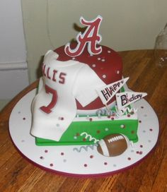 Alabama Football Themed Birthday Cakes