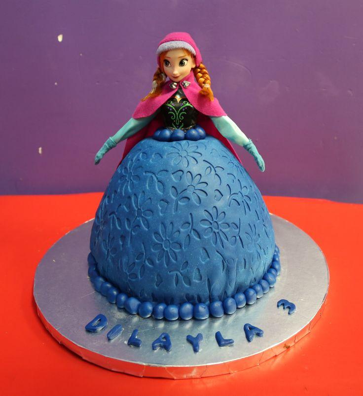 Anna From Frozen Birthday Cake