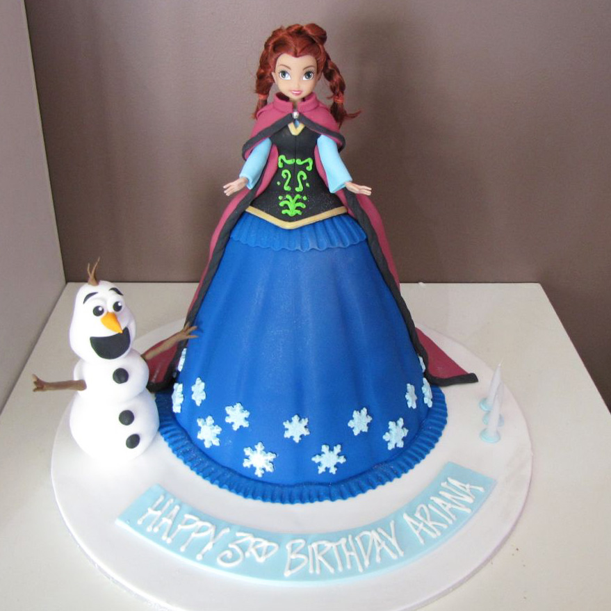 Anna From Frozen Cake