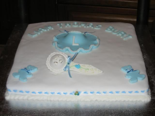 Baby Baptism Christening Cake