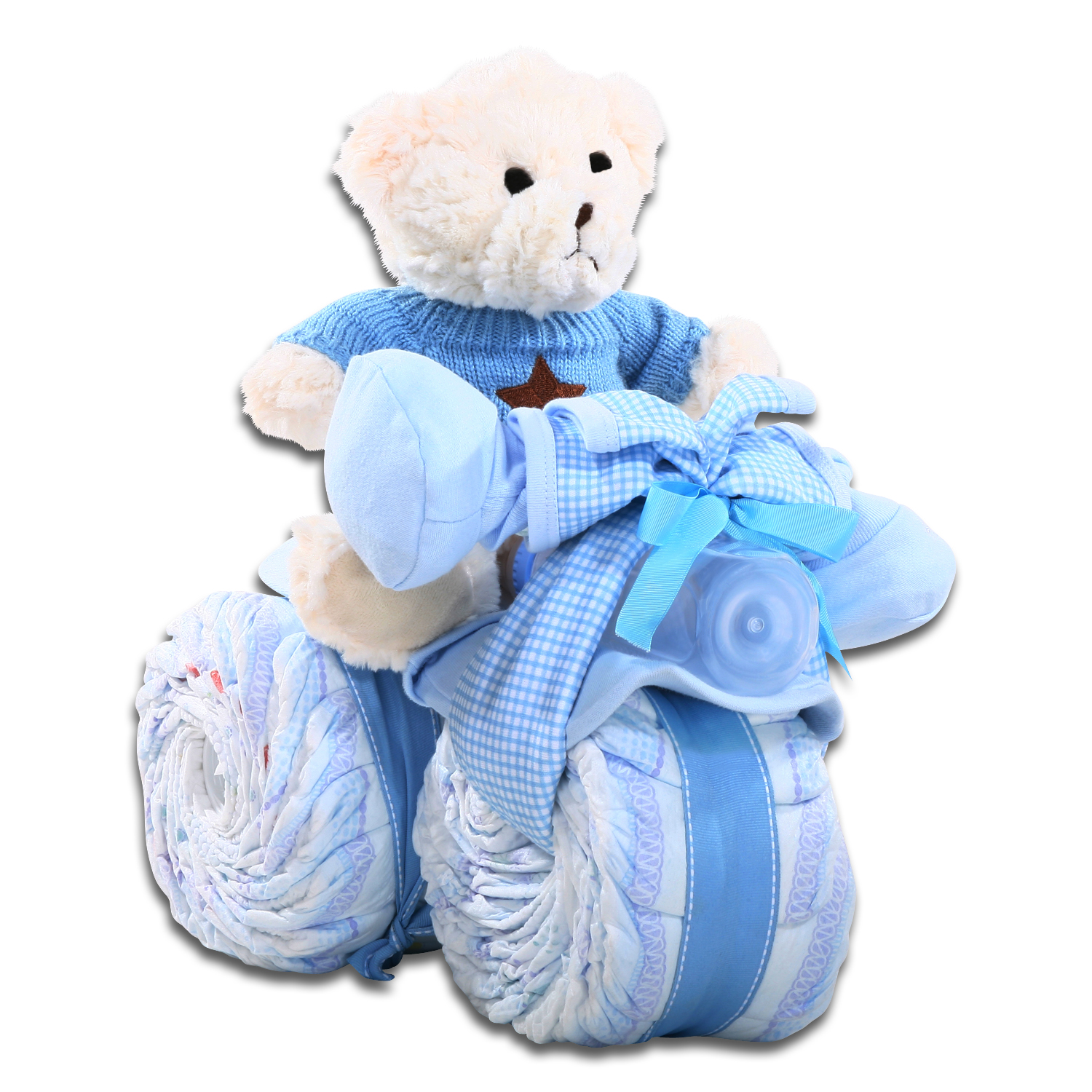 Baby Boy Tricycle Diaper Cake
