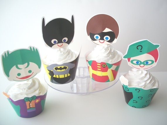 Batman Cupcake Wrappers- Perfect for Ev