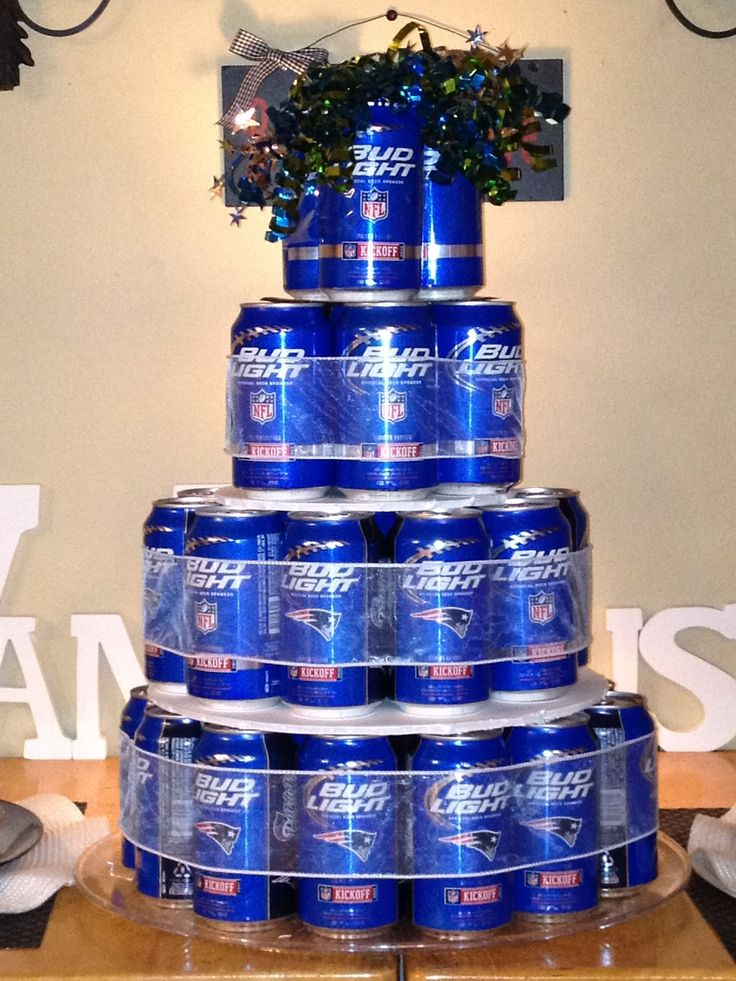 Beer Can Birthday Cake