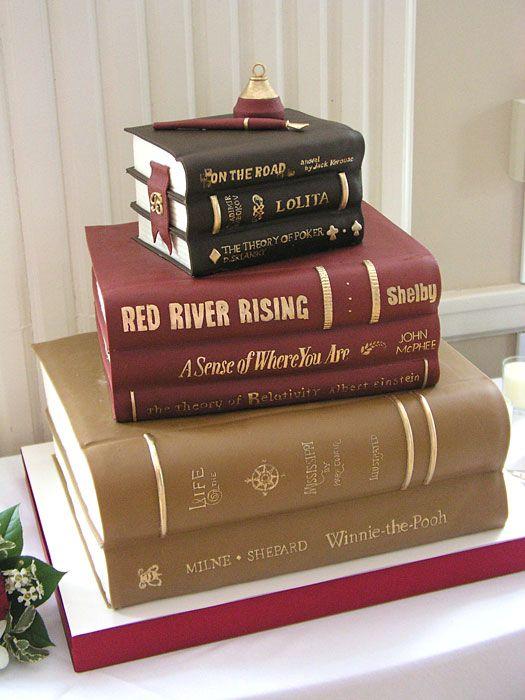 Birthday Cake with Books