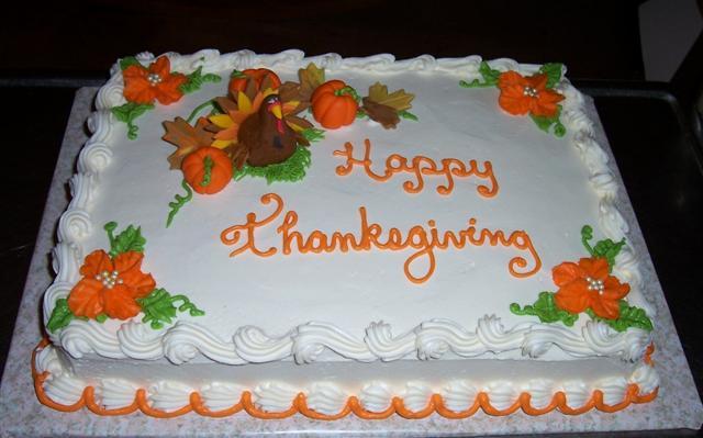 Birthday Thanksgiving Sheet Cake