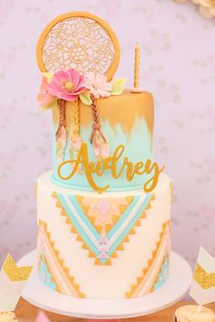 Boho Birthday Party Cakes