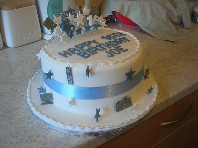Boy 16th Birthday Cake