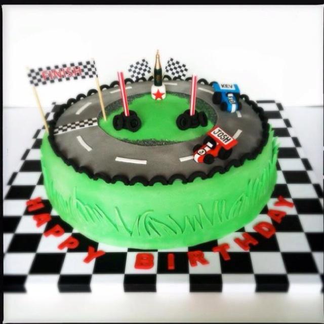 Boys Racing Car Cake Idea