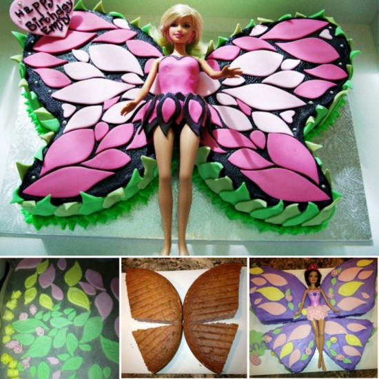 Butterfly Cake with Barbie