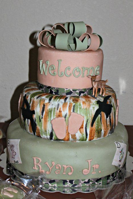 Camo Themed Baby Shower Cake