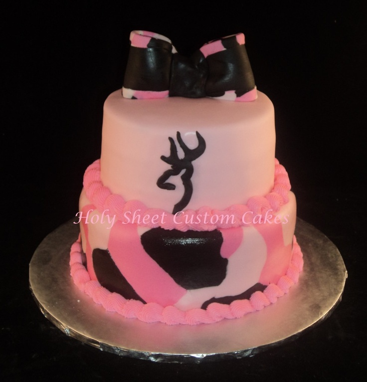 Camo with Browning Symbol Cake