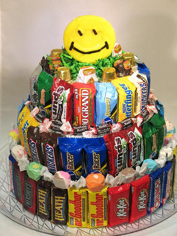 Candy Bouquet Birthday Cake
