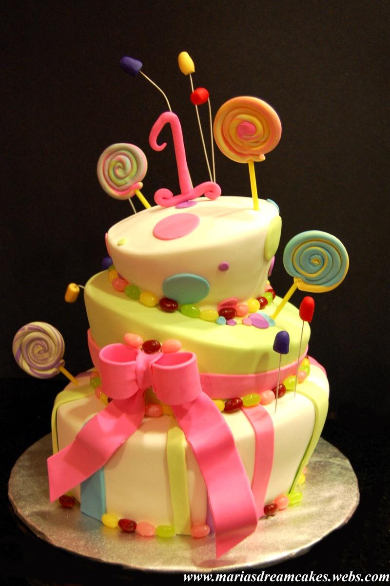 Candyland Themed Birthday Cake