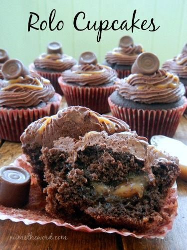 Caramel Chocolate Cupcake with Filling