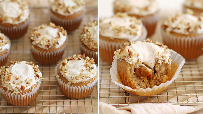 Caramel Filled Cupcakes with Cream Cheese