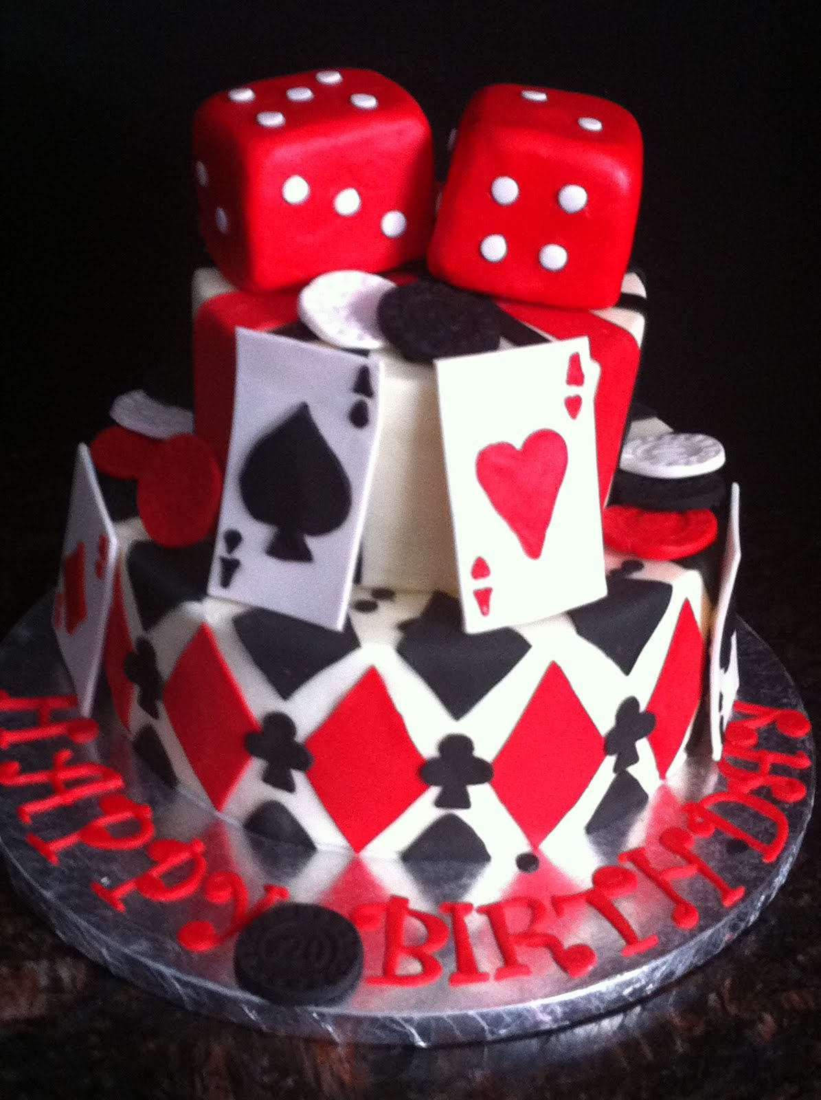 Casino Theme Party Cake