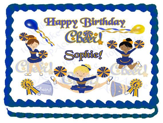 Cheerleading Sheet Cake Ideas