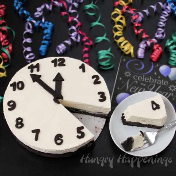 Cheesecake New Year's Eve Clock