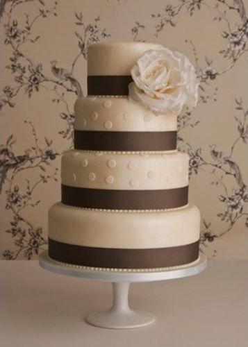 Chocolate Brown Wedding Cake
