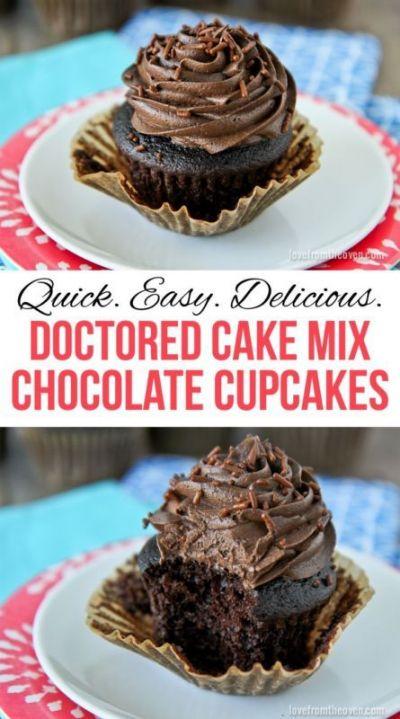 Chocolate Cake Mix Cupcake