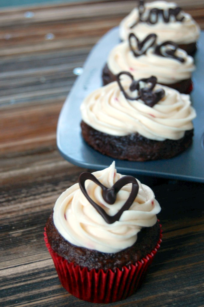 Chocolate Cream Cheese Frosting Cupcakes Decorations