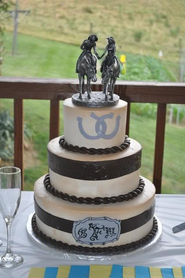 Country Western Theme Wedding Cakes