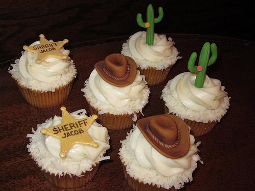 Cowboy-Themed Cupcakes