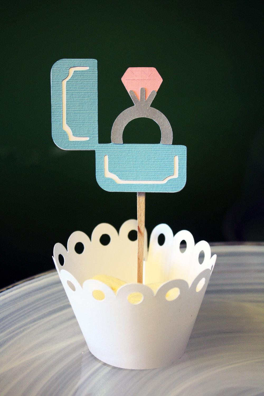 Cupcake Cake Topper Engagement Ring