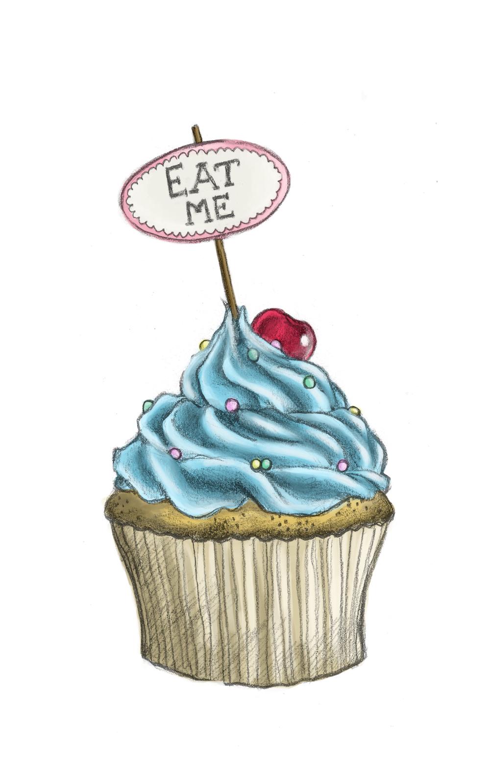 9 Cute Cupcakes Cartoon Pencil Drawings Photo - Happy ...