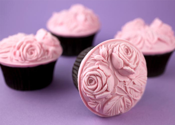 9 Photos of Fondant Shapes For Cupcakes