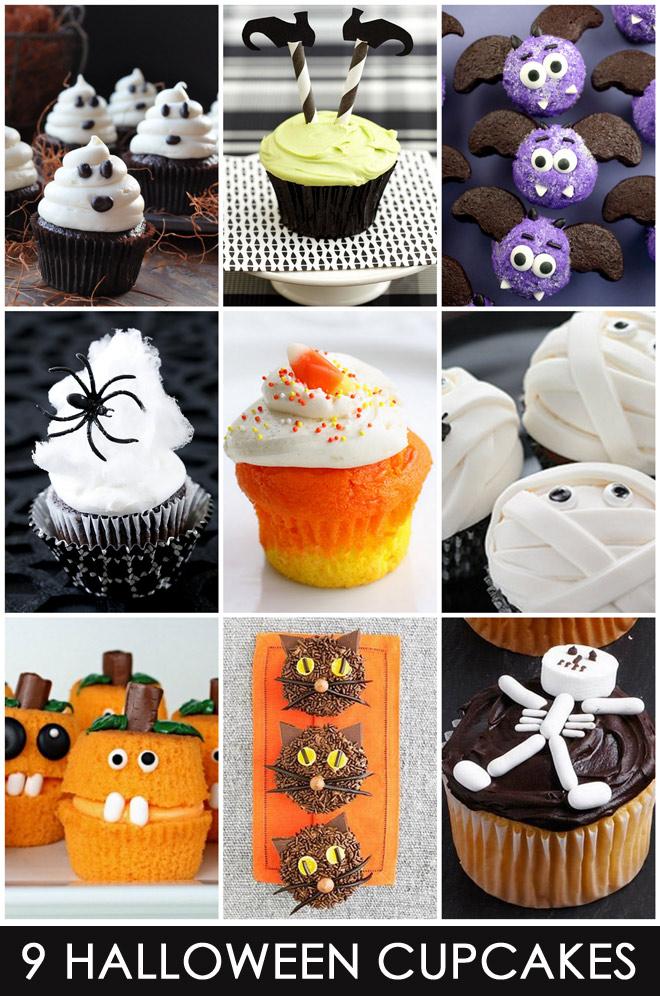 Cute Easy Halloween Cupcakes Idea
