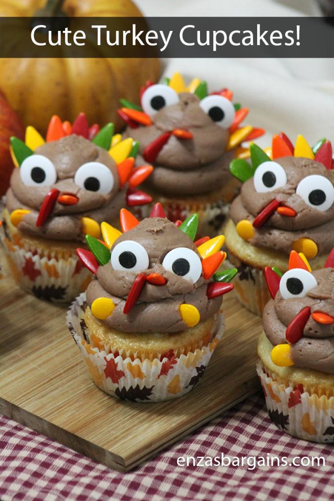 Cute Thanksgiving Turkey Cupcakes Recipe