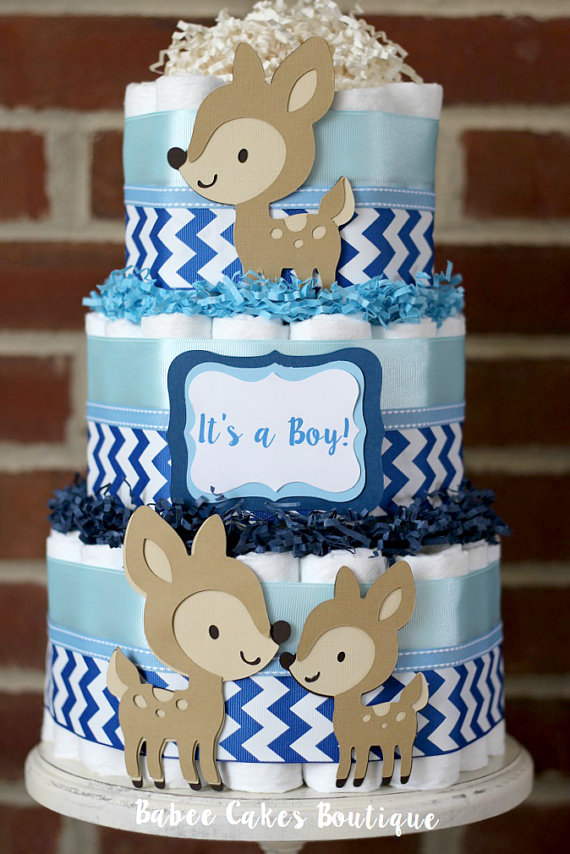 Deer Baby Boy Diaper Cake