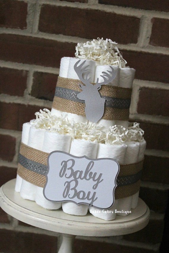 Deer Baby Shower Diaper Cake