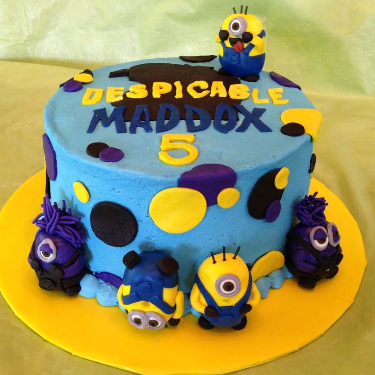 Despicable Me 2 Birthday Cake