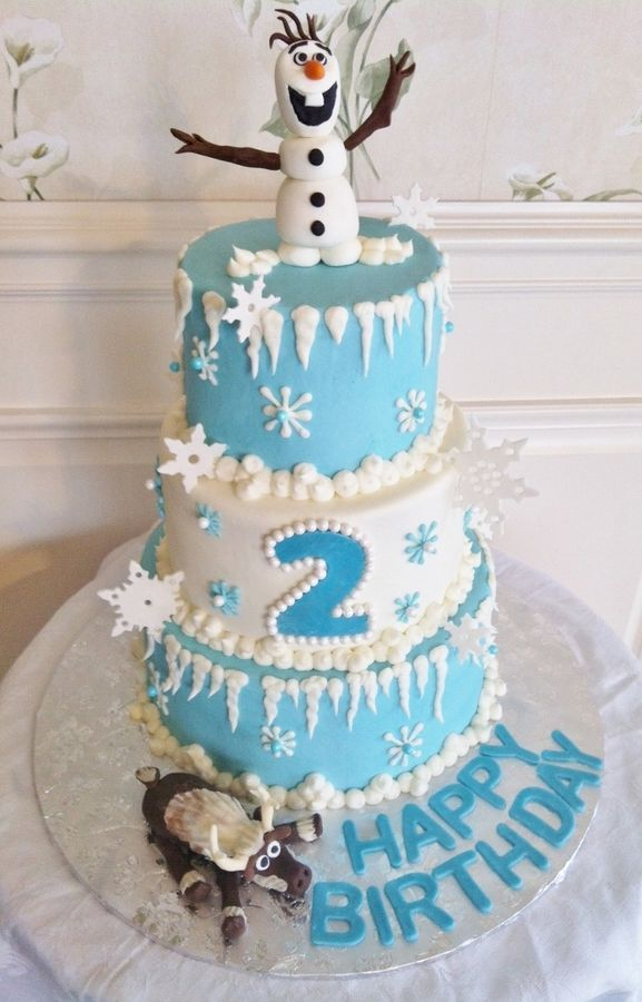 Disney Frozen Buttercream Cake