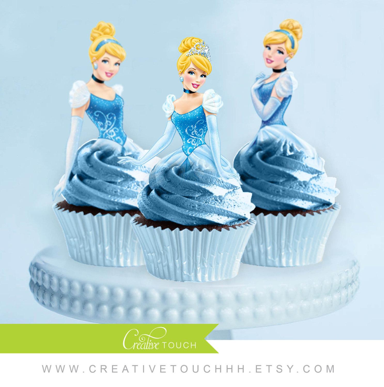 Disney Princess Cinderella Cupcake Toppers