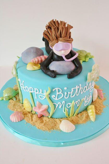 Diver Birthday Cake
