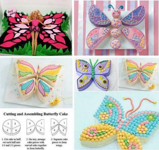 DIY Butterfly Cake