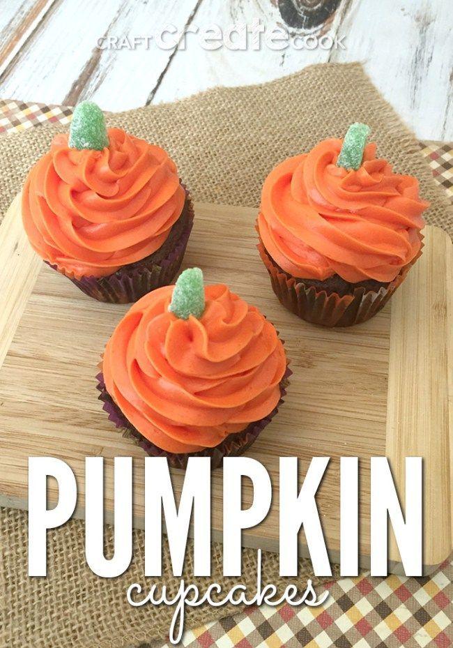 Easy Halloween Cupcakes Pumpkins
