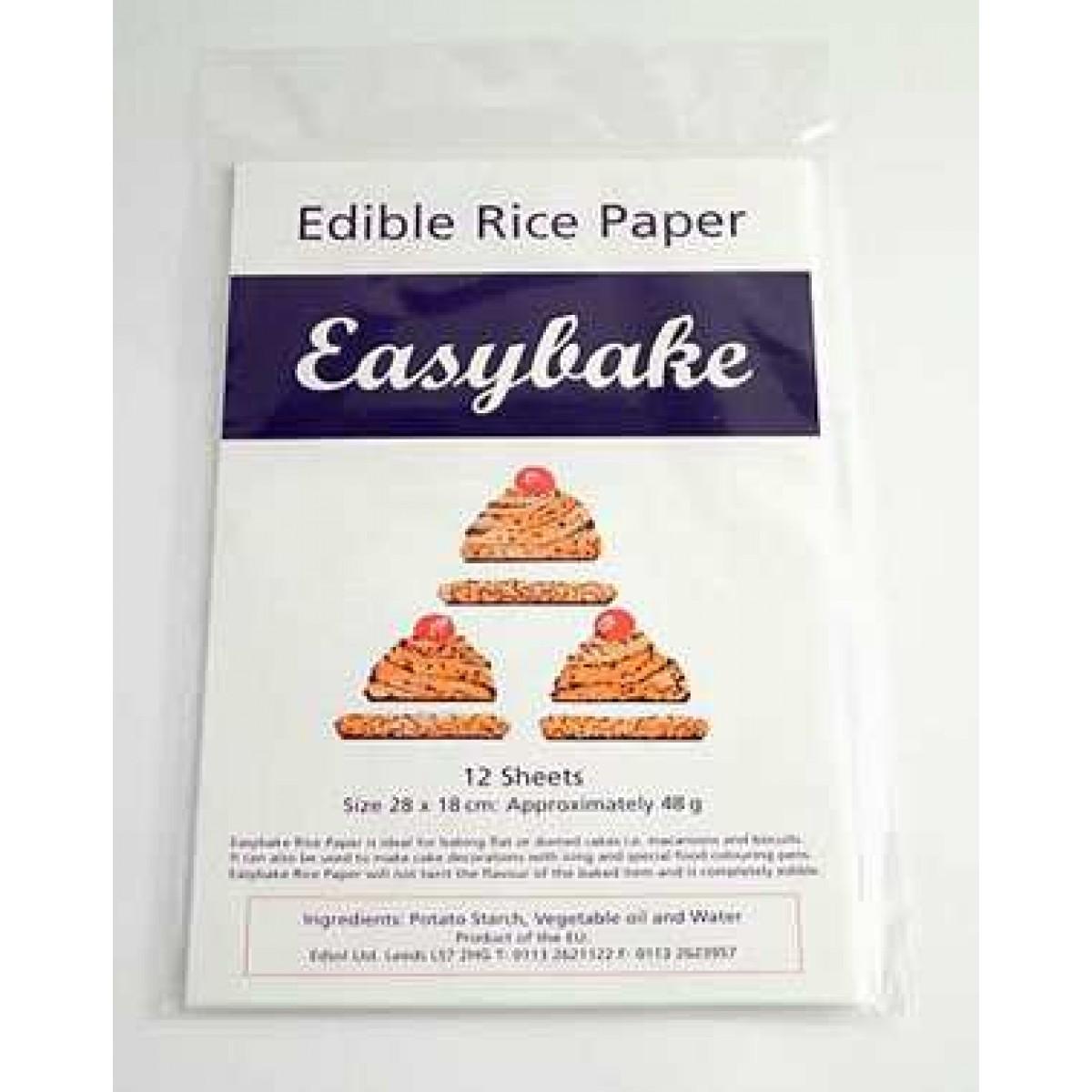 Edible Rice Paper Sheets