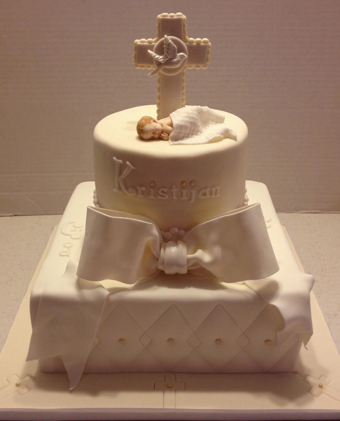 Elegant Baptism Cakes Ideas