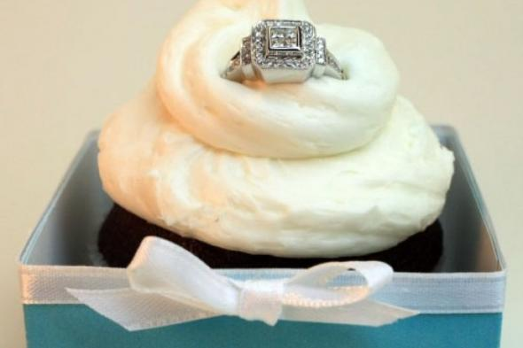 Engagement Ring Bridal Shower Cupcakes