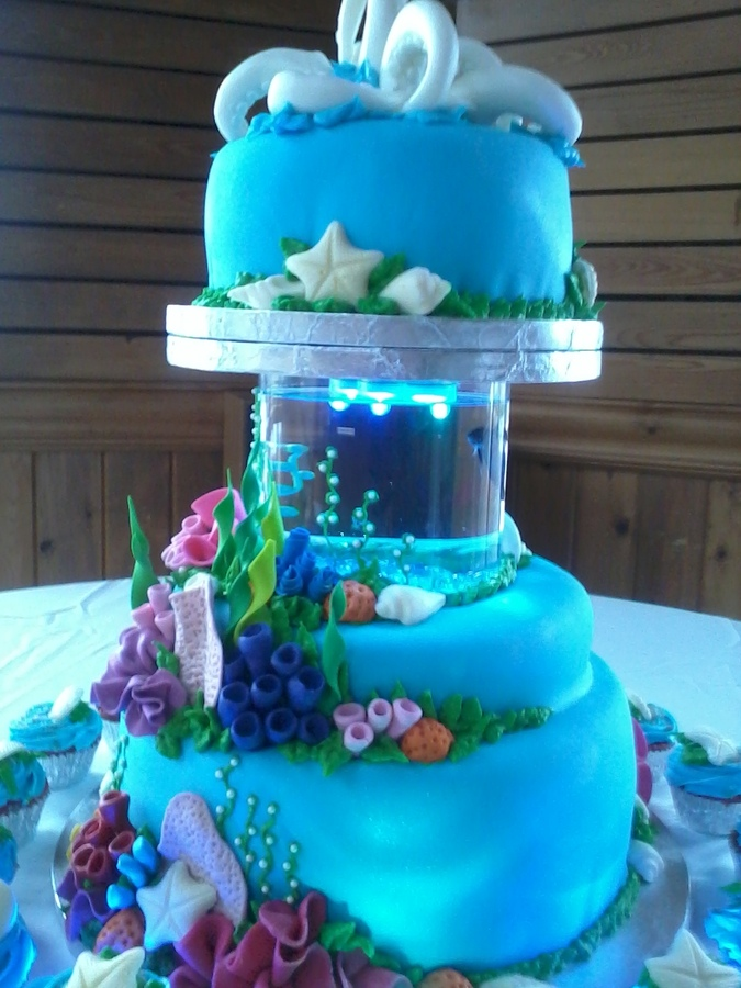 Fish Ocean Wedding Cakes