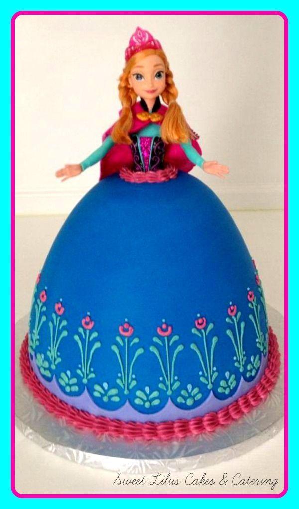 Frozen Anna Doll Cake