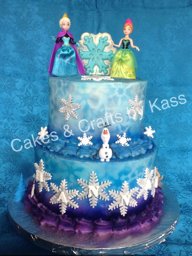 Frozen Buttercream Theme Cake