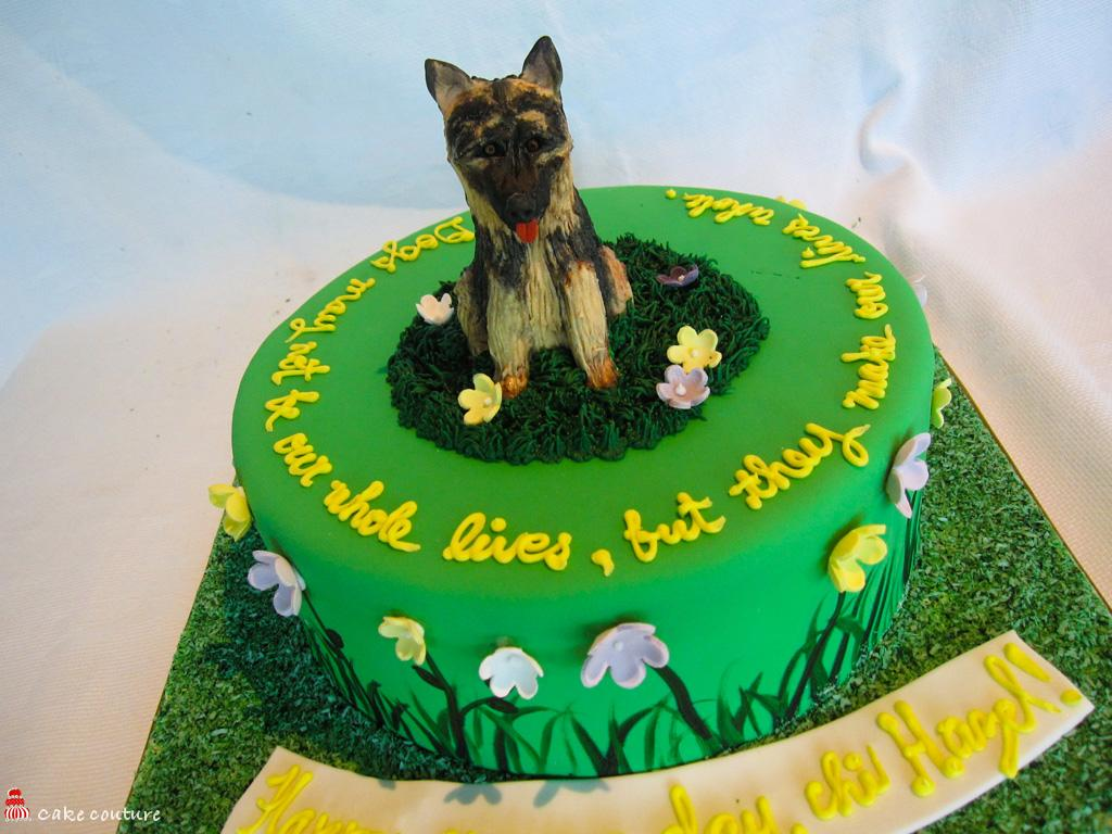 German Shepherd Birthday Cake