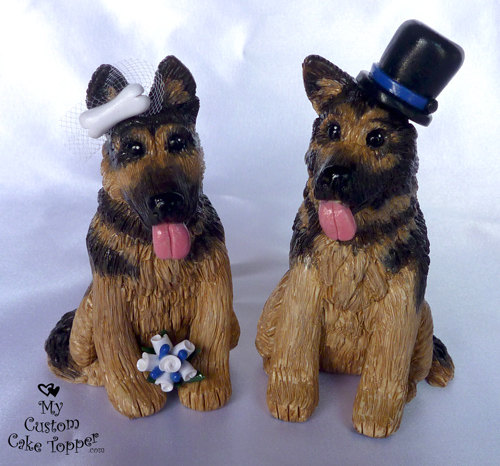 German Shepherd Cake Topper Wedding