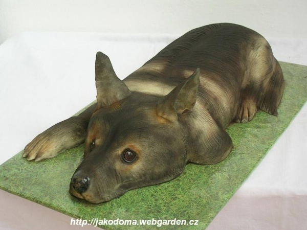 German Shepherd Cake